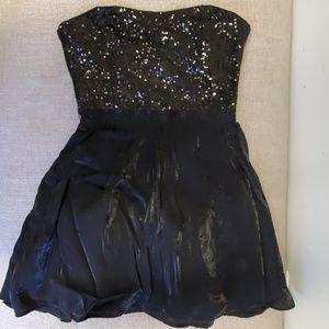 Forever 21 Strapless Sequin Tulle Black Dress S